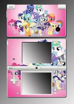 My Little Pony MLP Friendship is Magic Fluttershy Twilight Sparkle Rarity Video Game Vinyl Decal Cover Skin Protector  for Nintendo DSi