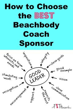 How to choose the best Beachbody Coach Sponsor