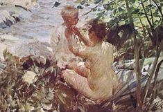 Anders Zorn - Woman finished her child
