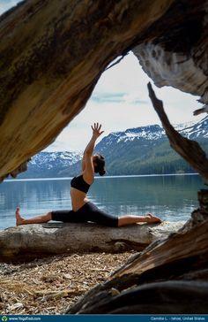 "Yoga Poses Around the World: ""Hanumanasana by Camillia L., Tahoe, USA"""