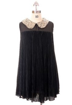 Sequins Collar Pleated Chiffon Top in Black $45.00  http://www.chicwish.com/tops/sequins-collar-pleated-chiffon-top-in-black.html