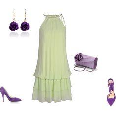 """Light Autumn Soft - purple-green to party"" by adriana-cizikova on Polyvore"