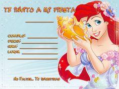 Lil Mermaid Birthday Party, Birthday Party Invitations, Birthday Parties, Ideas Para Fiestas, Ariel, Birthdays, Disney Princess, Disney Characters, Cards