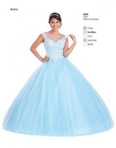 elegant tyll ball Kole quinceanera kjoler