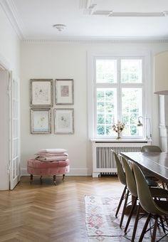 Pastelfarvede tekstiler
