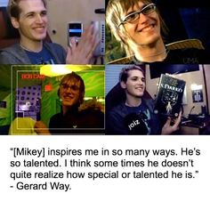 I love Mikey so much and I love Mikey and Gerard's relationship as siblings so much and when I was putting the pictures together for this I couldn't stop smiling at Mikey's smiling face :')