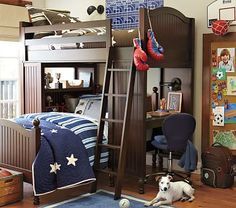 Catalina Bunk System and Twin Bed Set #pbkids $1895