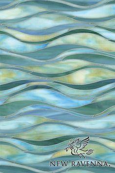 Oasis water jet jewel glass mosaic | New Ravenna Mosaics