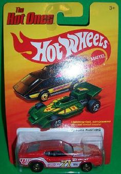 HOT WHEELS 1/64: THE HOT ONES - '71 Red Ford Mustang - HARD TO FIND