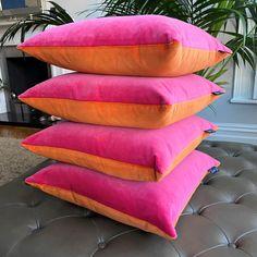 Pink and Orange Cushion - 30 x 30 Cushion | Luxe39
