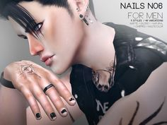 Pralinesims' Nails For Men N06 Cc Nails, Sims 4 Nails, Sims 4 Cc Skin, Sims Cc, Slimming World, Male Rings, Rings For Men, Sims 4 Cc Shoes, Sims 4 Cc Makeup
