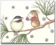 """""""8 Blank Christmas Cards/8 Envs"""" from House-Mouse Designs / www.house-mouse.com - (C9B). This item was recently purchased off from our web site, www.house-mouse.com. Click on the image to see more information."""