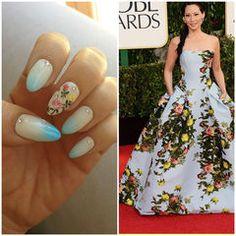 Carolina Herrera inspired nail art