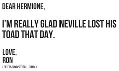 Dear Hermione, // Love, Ron