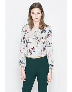 Zara Floral Print Blouse #refinery29