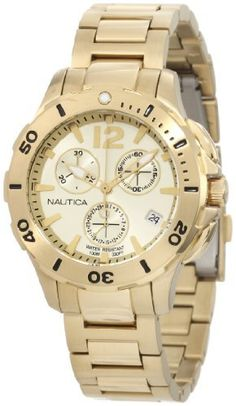 Nautica Men's N21532M Bfd 101 Dive Style Chrono Midsize Watch NAUTICA. $129.38. 38mm. Quartz movement. Stainless steel case. Durable mineral crystal protects watch from scratches. Water resistant to 330 feet. Save 40%!