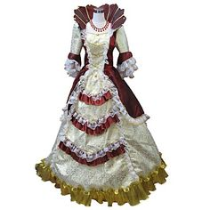 ff86e1e9a72fc Princess Rococo Renaissance 18th Century Costume Women's Dress Party  Costume Masquerade Ball Gown Red and White / Red+Golden / Fuschia Vintage  Cosplay Party ...