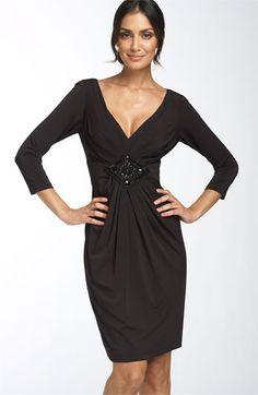 Maggy London Beaded Matte Jersey Dress