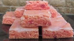 Strawberry Brownies: Tastes like strawberry cake but much easier to make!