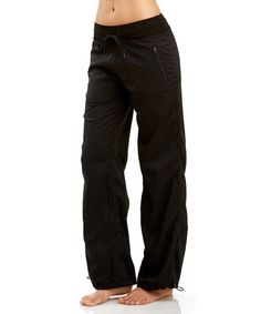 Loving this Black Toggle Pants on #zulily! #zulilyfinds