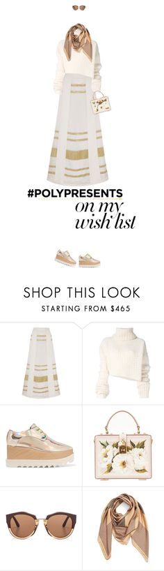 """#PolyPresents: Wish List"" by missiopa ❤ liked on Polyvore featuring Zeus+Dione, Ann Demeulemeester, STELLA McCARTNEY, Dolce&Gabbana, Marni, whiteandgold, contestentry and polyPresents"
