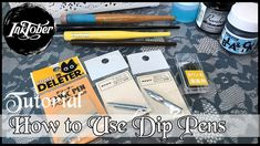 With coming up really soon I thought it would be a great time to do a video on how I use dip pens. Calligraphy Pens, Dip Pen, India Ink, Pen Nib, Drawing Board, Pen Sets, Buy Prints, Pen Holders, Inktober