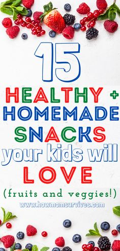 These healthy snacks for kids are fun to make and good for them! Even picky eaters love them! #snacksforkids #momlifehacks #vegetablesnacksforkids Healthy Homemade Snacks, Healthy Eating Recipes, Healthy Kids, Healthy Living, Natural Parenting, Good Parenting, Parenting Hacks, Working Mom Tips, Stress Relief Tips
