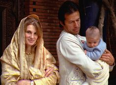 Jemima and imran khan with son suleman