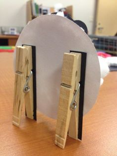 use clothespins to make a stand for pricing