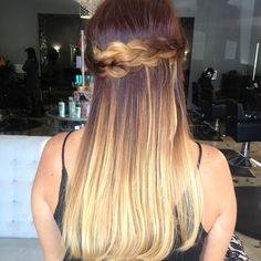 Gorgeous color melt followed by Dutch braid!
