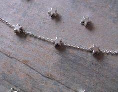 SALE. Sterling Silver Star Anklet