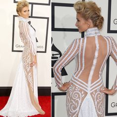 Best and Worst Dressed Celebs in Grammy Awards 2014 Sexy Dresses, Cute Dresses, Grammy Awards 2014, Lace Dress, Dress Up, Beautiful Gowns, Beautiful People, Paris Hilton, Red Carpet Looks