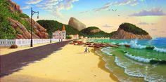Copacabana Beach In 1915   Artsia