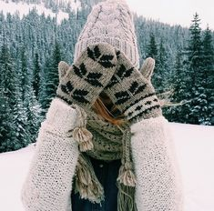 wooly hat, mittens, and scarf > winter wear