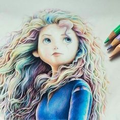 Merida 💚💜💙💛❤️️ Best of Disney Art by Charly Kh. Draws