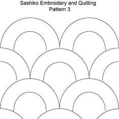 FREE Sashiko Embroidery Patterns - Set 1: Sashiko Pattern 3