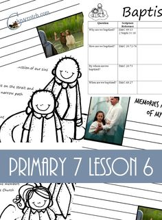 Love all these lesson helps and handouts for LDS Primary 7 Lesson 6: The Baptism of Jesus
