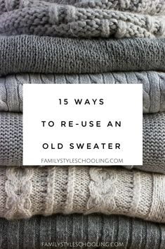 Recycle old sweaters #sweaters #redesign