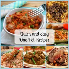 Quick and Easy One Pot Recipes. Cook a delicious meal without the hassle of a big clean-up with easy one pot recipes.