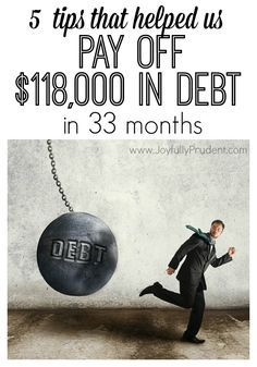 Tips for paying off debt. How to pay off debt quickly. Budget wisely. 5 Tips to Pay off debt in 33 months