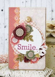 Smile Card by Melissa Phillips for Papertrey Ink (February 2014)