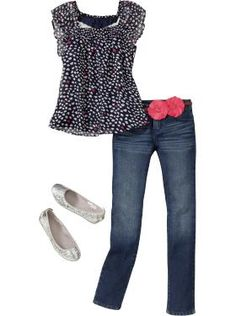 Girls Clothes: Jean Outfits | Old Navy