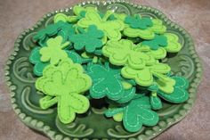St. Patrick's Day Shamrock/Lucky Clover Hair Clips