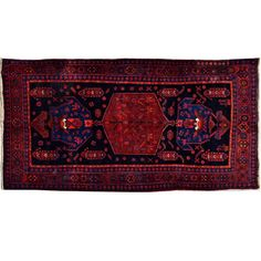 """Persian Rug, 7'2"""" x 4'5"""" Oriental vintage tribal weave hand knotted floor area rug, indoor classic rug best condition"""