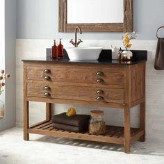 "48"" Benoist Reclaimed Wood Console Vessel Sink Vanity - Pine"