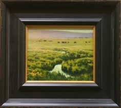 Kevin Courter painting, Grazers, 6.5x8, oil on linen