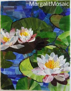 By MargalitMosaic Water lilies