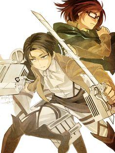 Hanji Zoe & Rivaille,Levi Ackerman - Shingeki no Kyojin / Attack on Titan