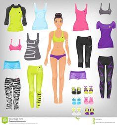 Dress Up Sporty Paper Doll __ © Alena Rozova   Dreamstime.com