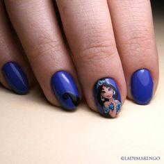 Jasmine Nails by ladymarengo on DeviantArt Mary Janes, Avengers Nails, Jasmine Nails, Disney Nails, Nail Inspo, You Nailed It, My Nails, Manicure, Geek Stuff